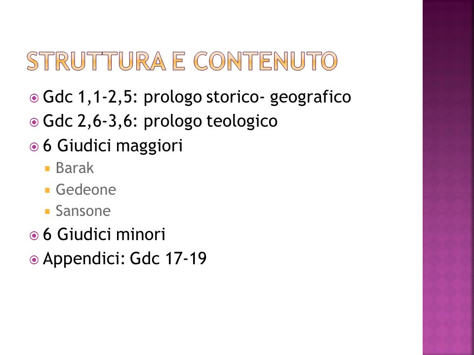 Struttura e contenuto Gdc 1,1-2,5: prologo storico- geografico