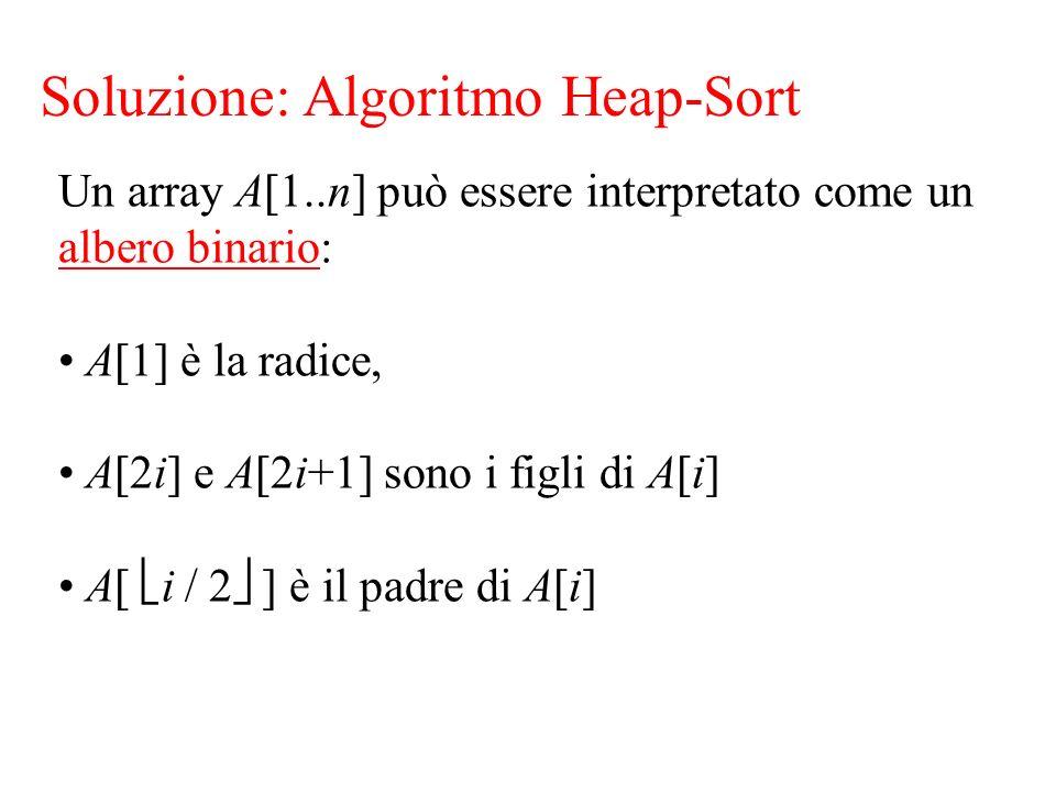 Soluzione: Algoritmo Heap-Sort