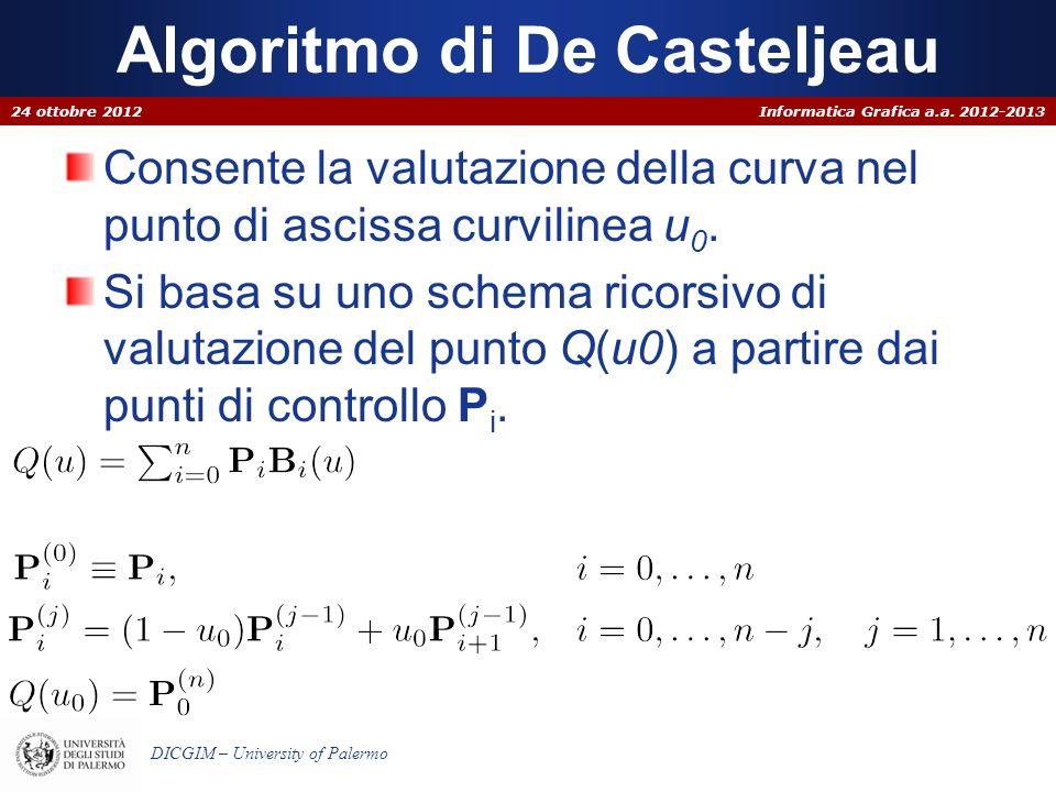 Algoritmo di De Casteljeau