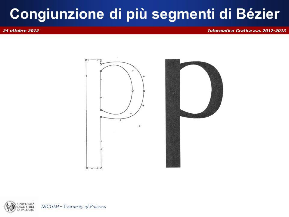 Congiunzione di più segmenti di Bézier
