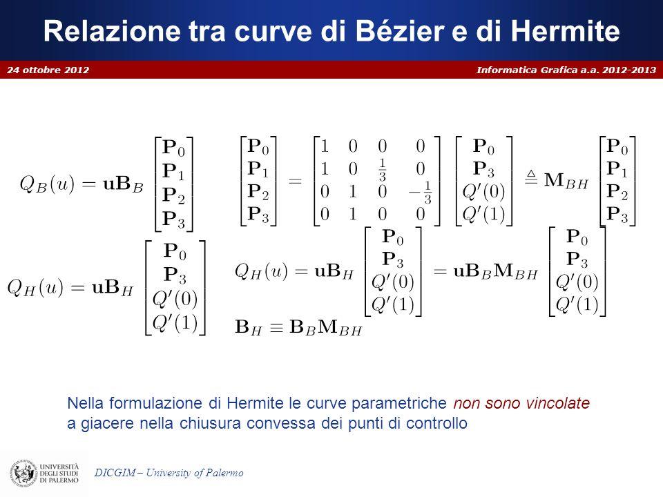 Relazione tra curve di Bézier e di Hermite