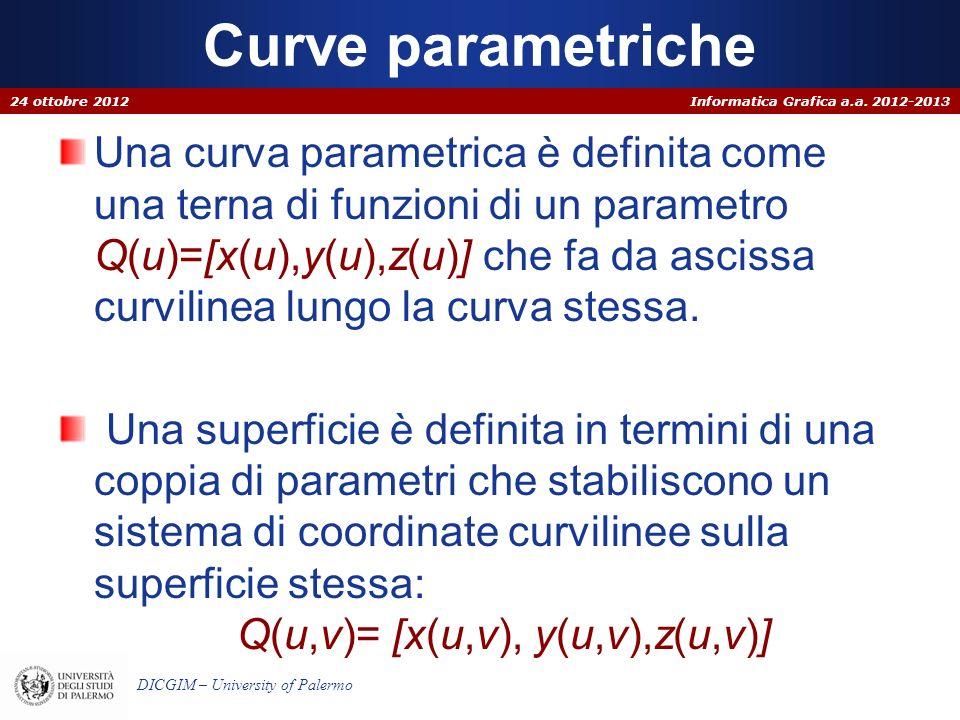 Curve parametriche 24 ottobre 2012.