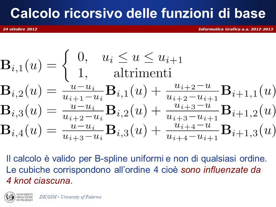Calcolo ricorsivo delle funzioni di base