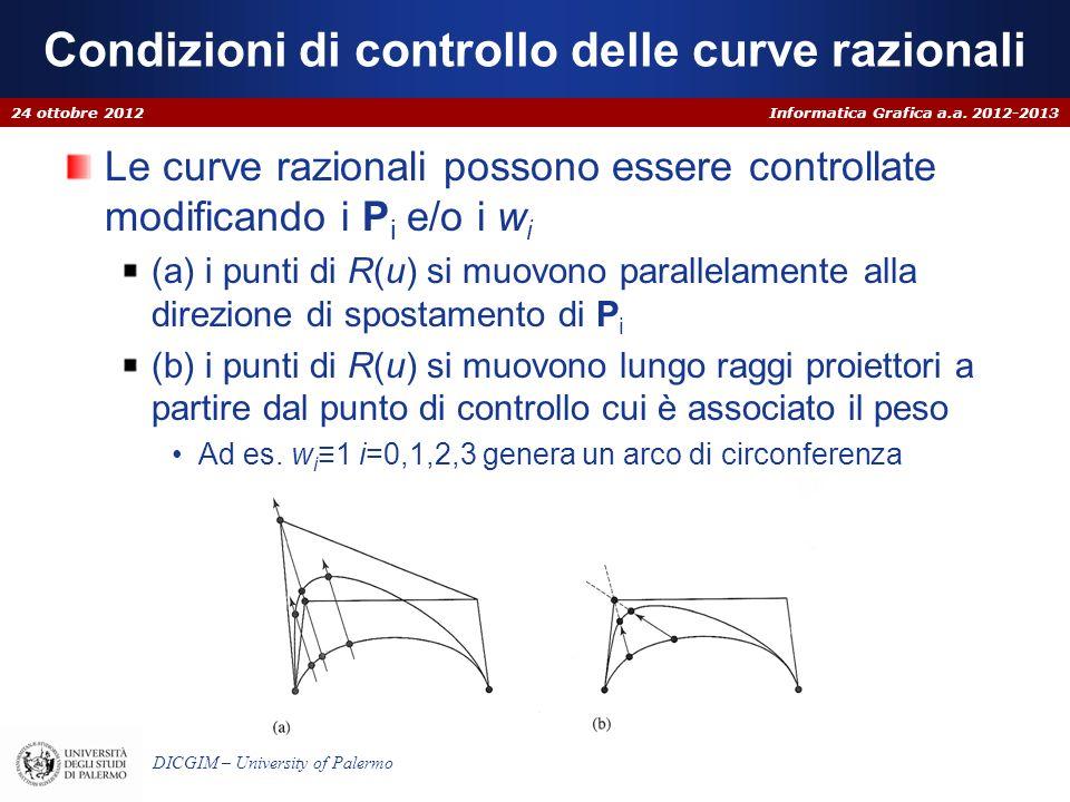 Condizioni di controllo delle curve razionali