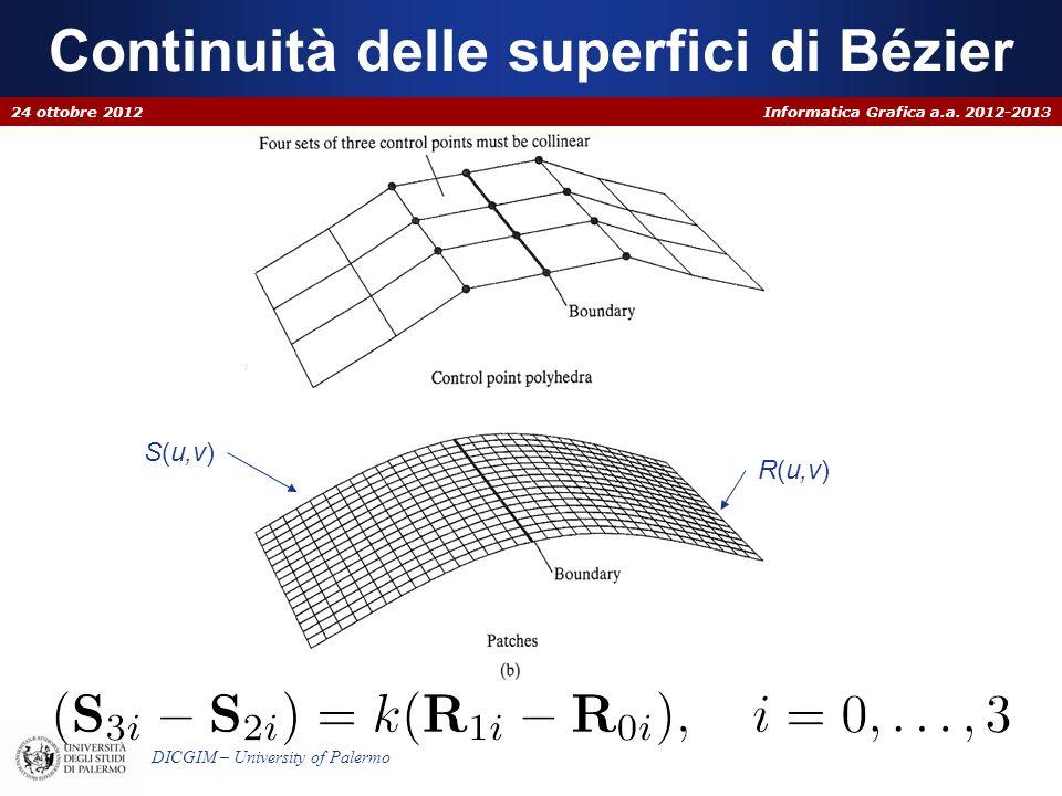 Continuità delle superfici di Bézier