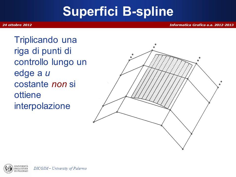 Superfici B-spline 24 ottobre 2012.