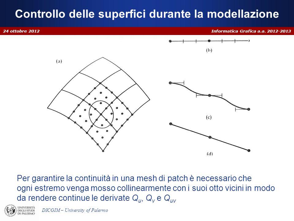 Controllo delle superfici durante la modellazione