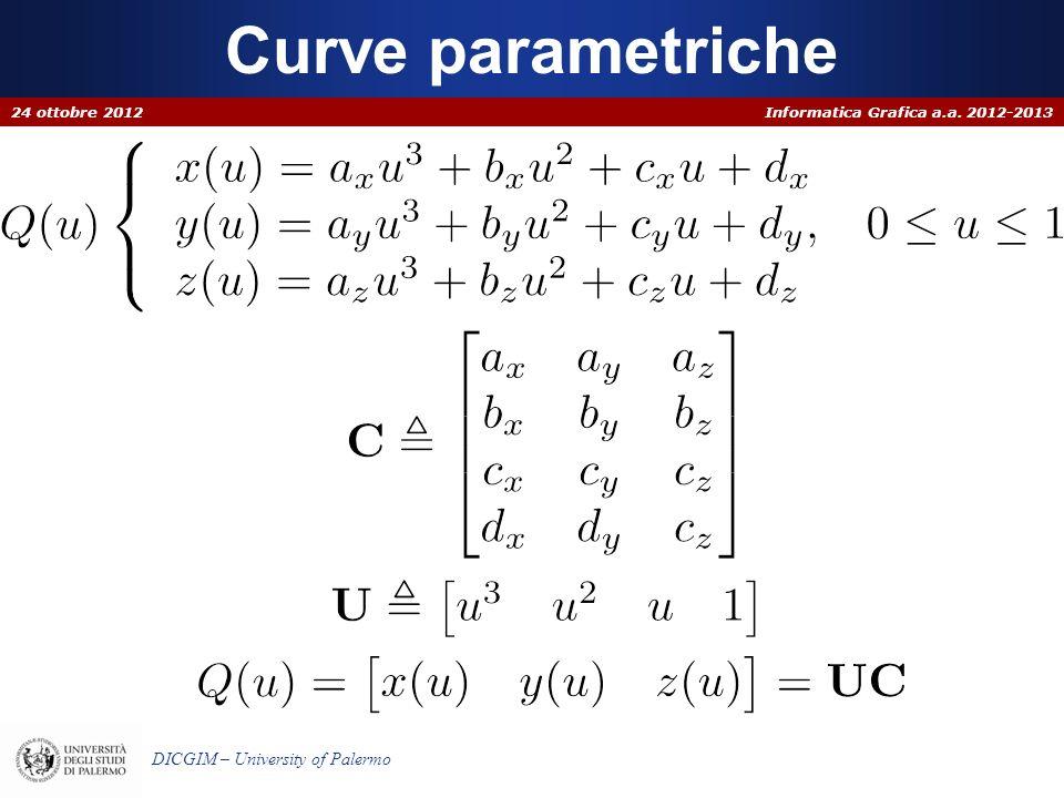 Curve parametriche 24 ottobre 2012