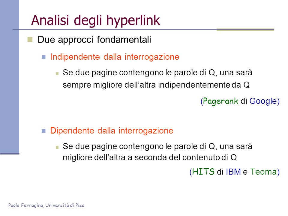 Analisi degli hyperlink