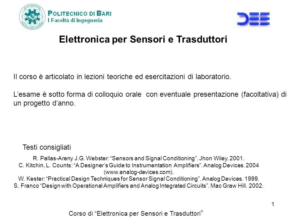 Elettronica per Sensori e Trasduttori