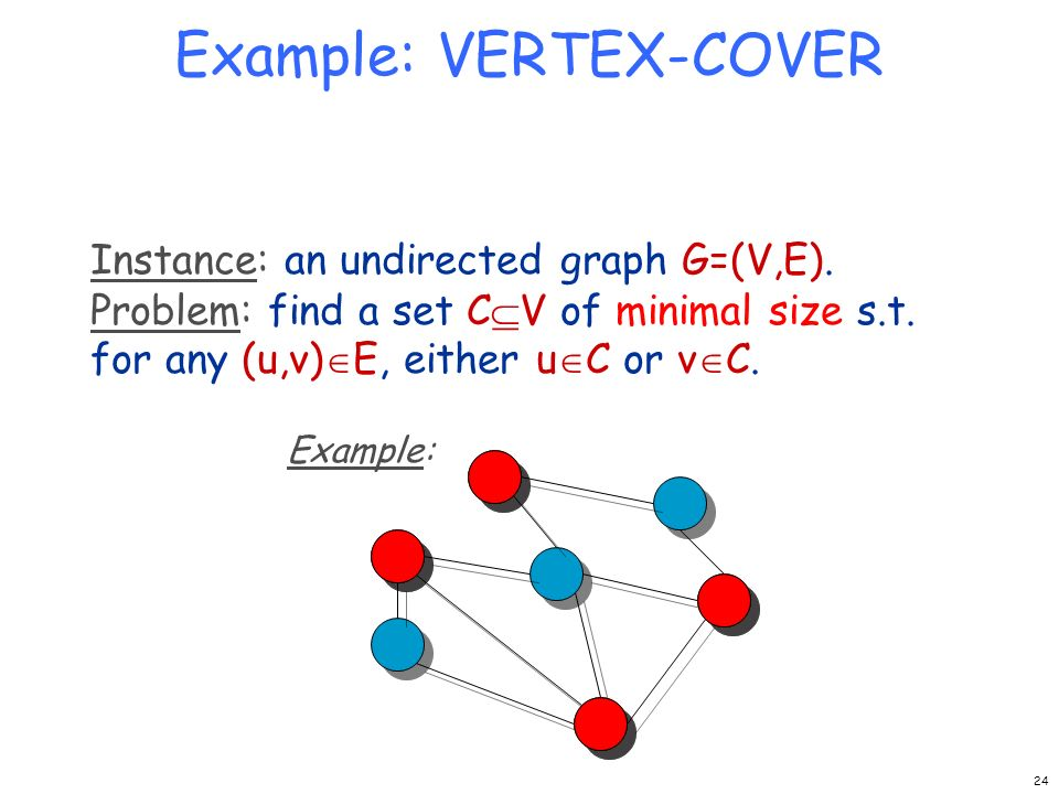 Example: VERTEX-COVER