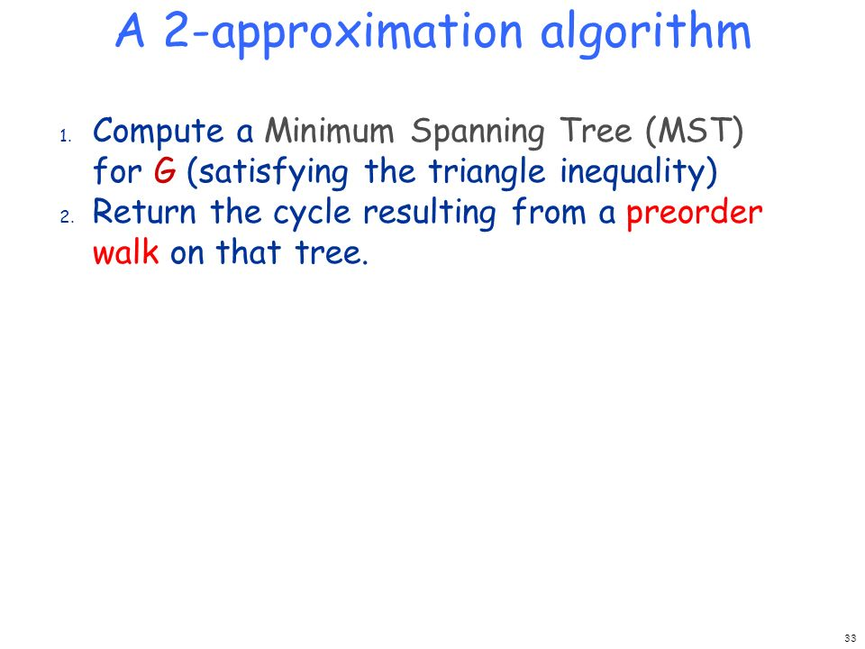 A 2-approximation algorithm