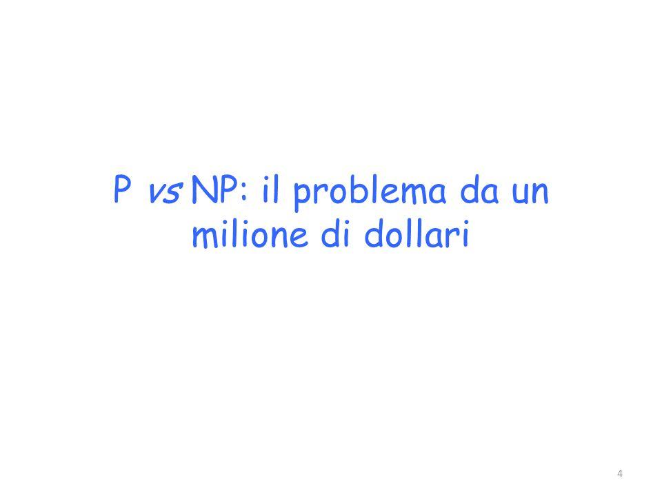 P vs NP: il problema da un milione di dollari