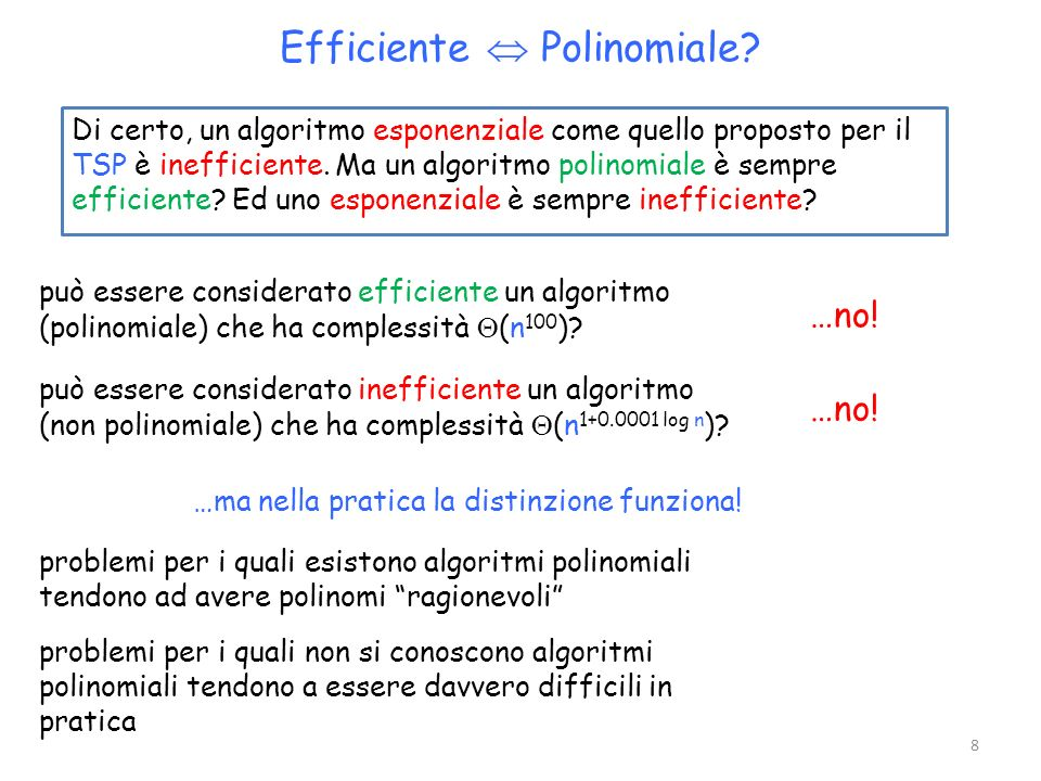 Efficiente  Polinomiale