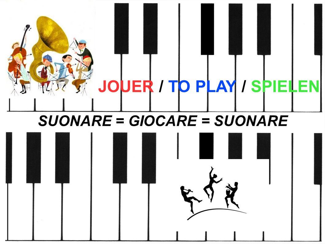 JOUER / TO PLAY / SPIELEN SUONARE = GIOCARE = SUONARE