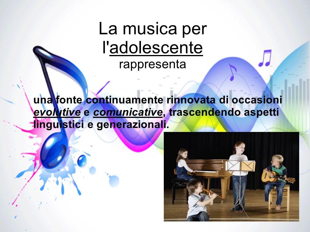 La musica per l adolescente rappresenta