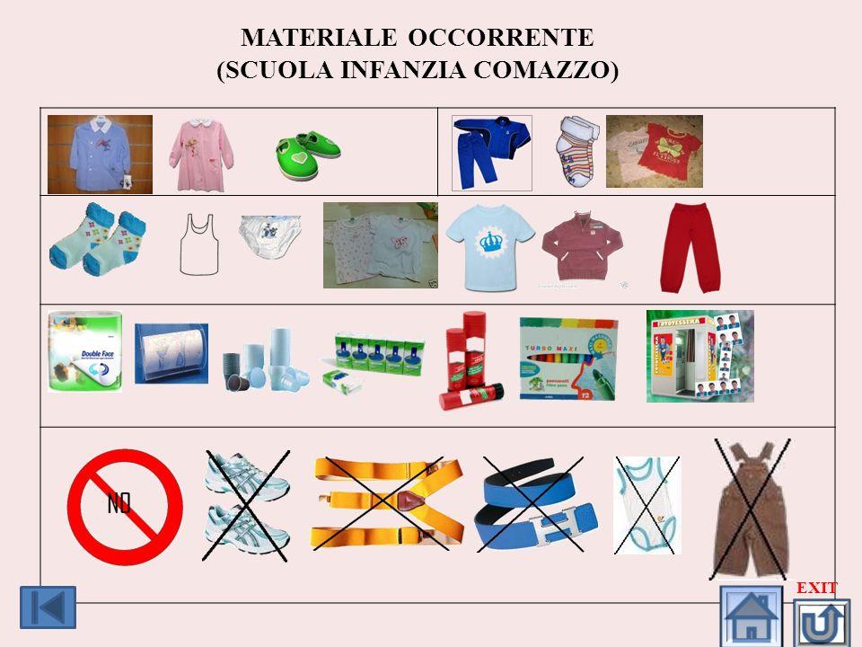 MATERIALE OCCORRENTE (SCUOLA INFANZIA COMAZZO)
