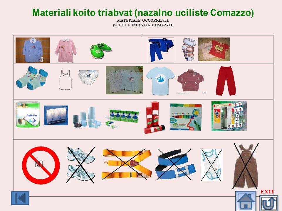 Materiali koito triabvat (nazalno uciliste Comazzo)