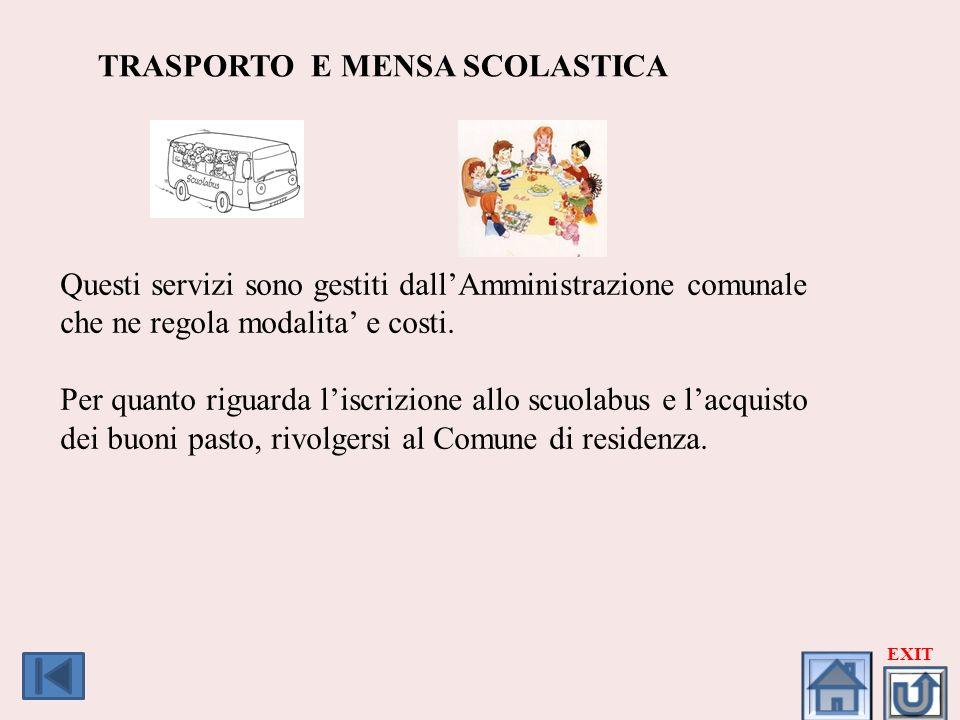 TRASPORTO E MENSA SCOLASTICA