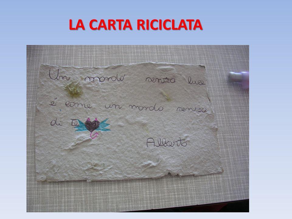 LA CARTA RICICLATA