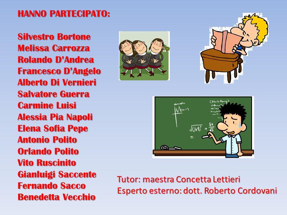 HANNO PARTECIPATO: Silvestro Bortone. Melissa Carrozza. Rolando D'Andrea. Francesco D'Angelo. Alberto Di Vernieri.