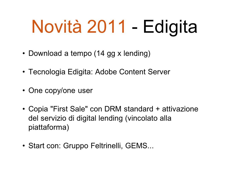Novità 2011 - Edigita Download a tempo (14 gg x lending)