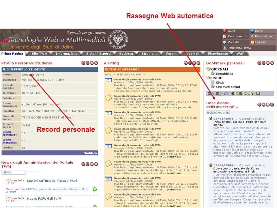 Rassegna Web automatica