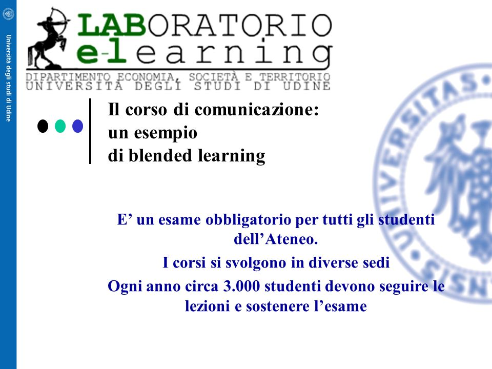 Il corso di comunicazione: un esempio di blended learning