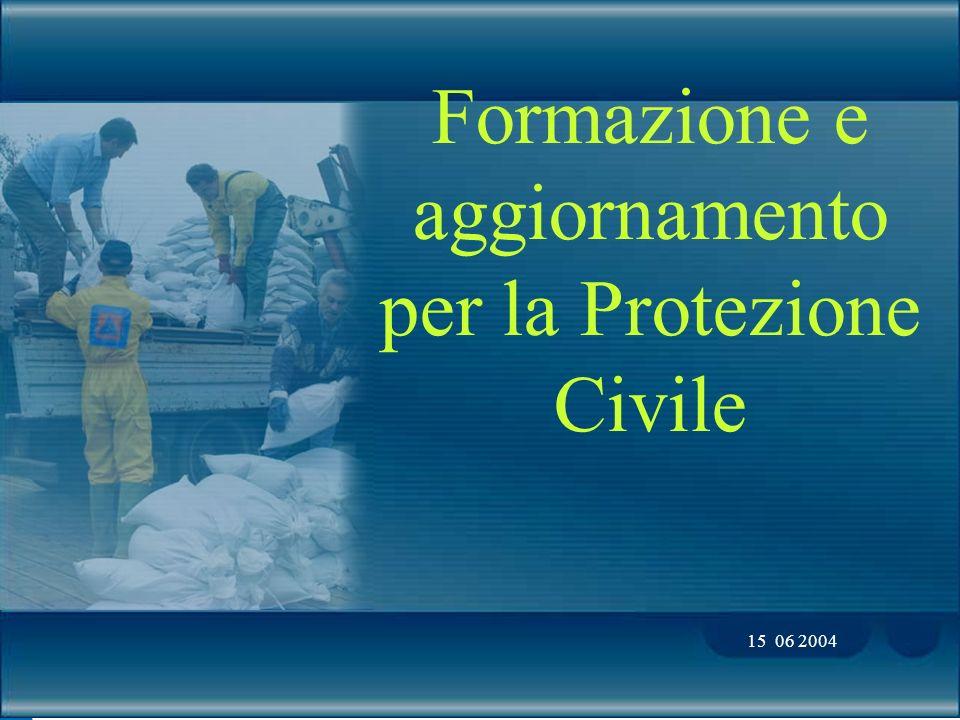 Formazione e aggiornamento per la Protezione Civile