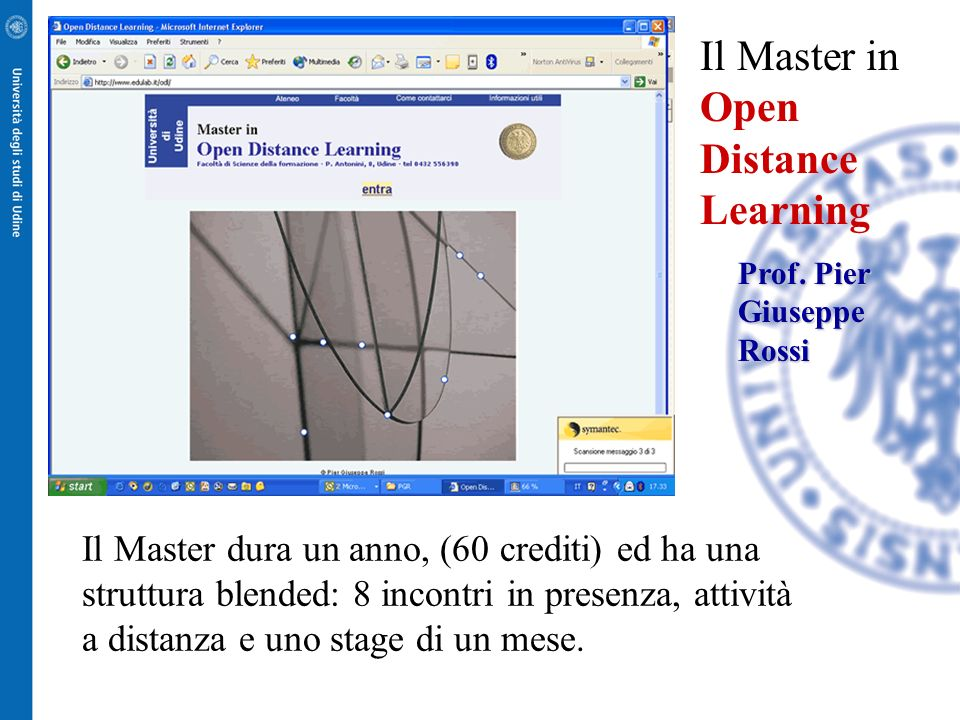Il Master in Open Distance Learning