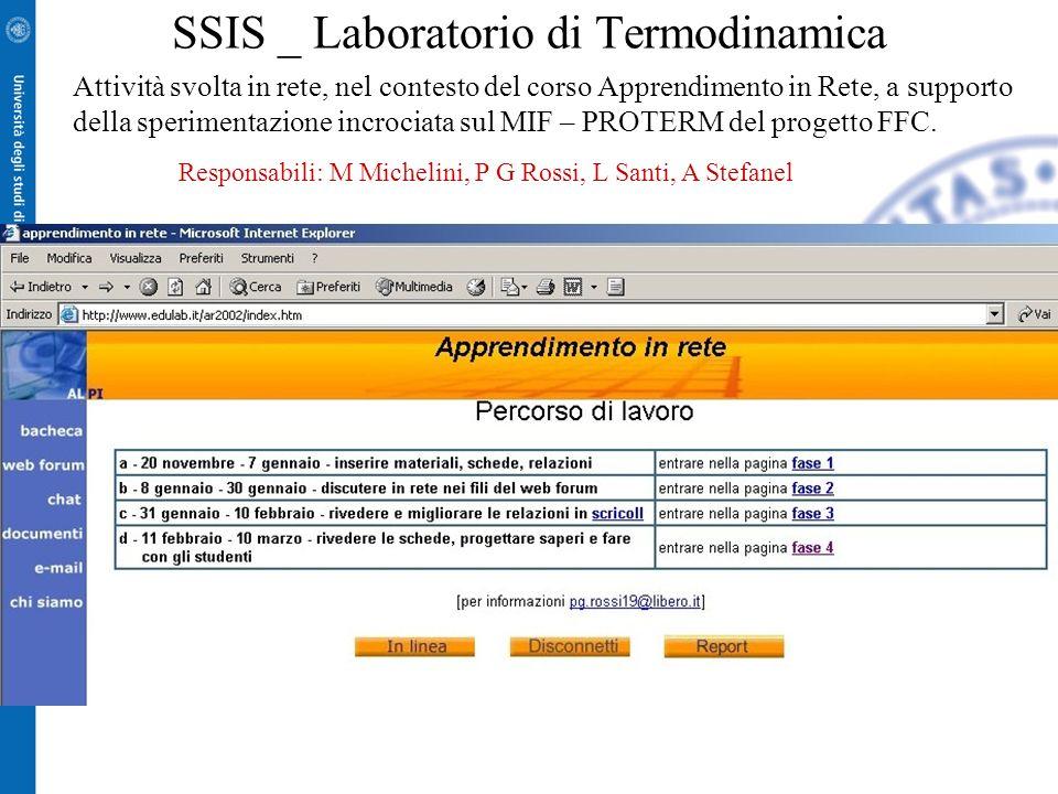 SSIS _ Laboratorio di Termodinamica