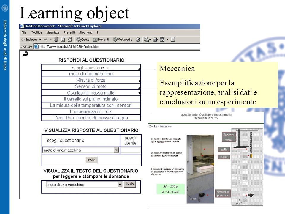 Learning object Meccanica