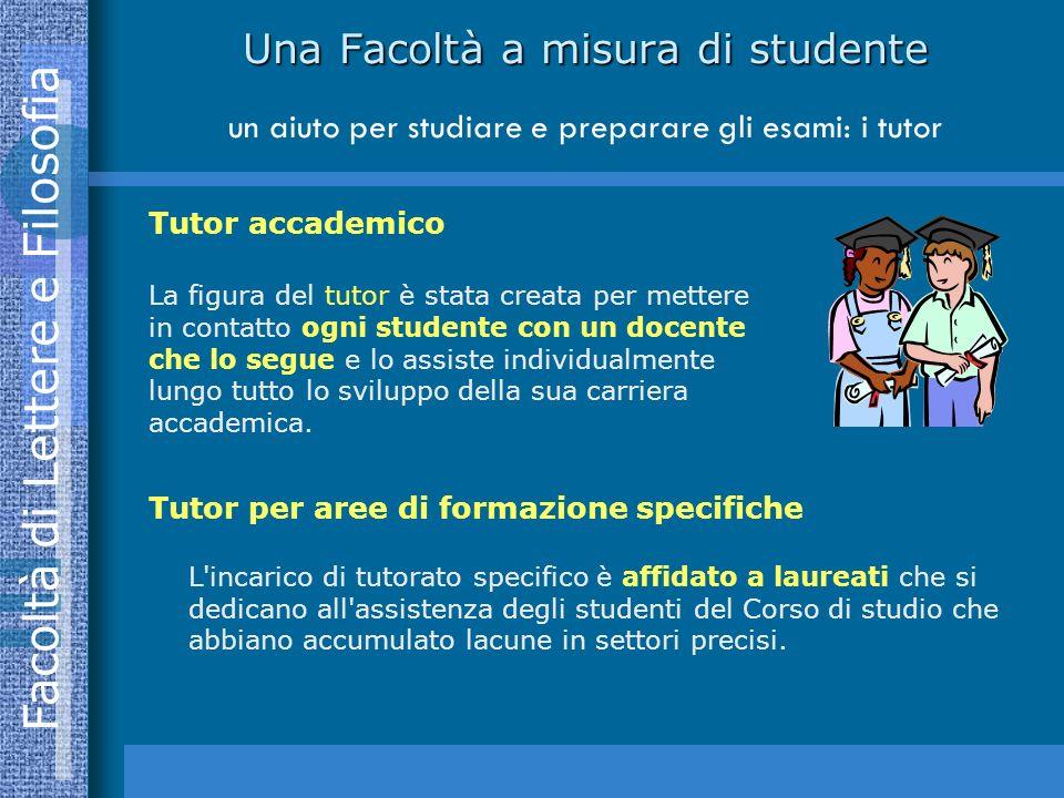 Una Facoltà a misura di studente un aiuto per studiare e preparare gli esami: i tutor