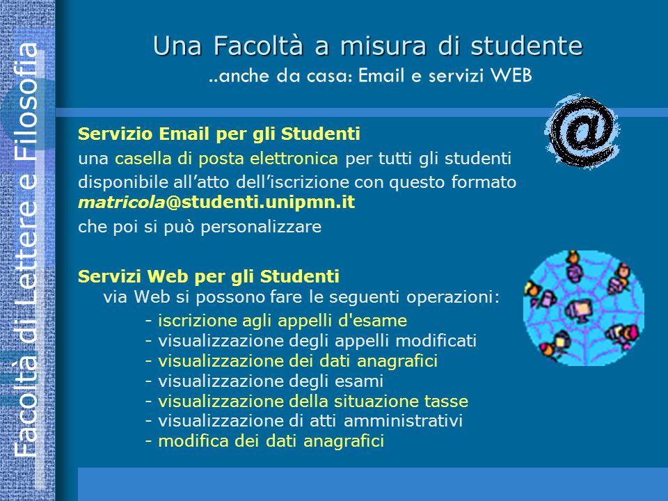 Una Facoltà a misura di studente ..anche da casa: Email e servizi WEB