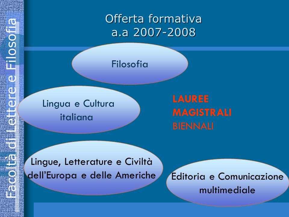 Lingue, Letterature e Civiltà dell'Europa e delle Americhe