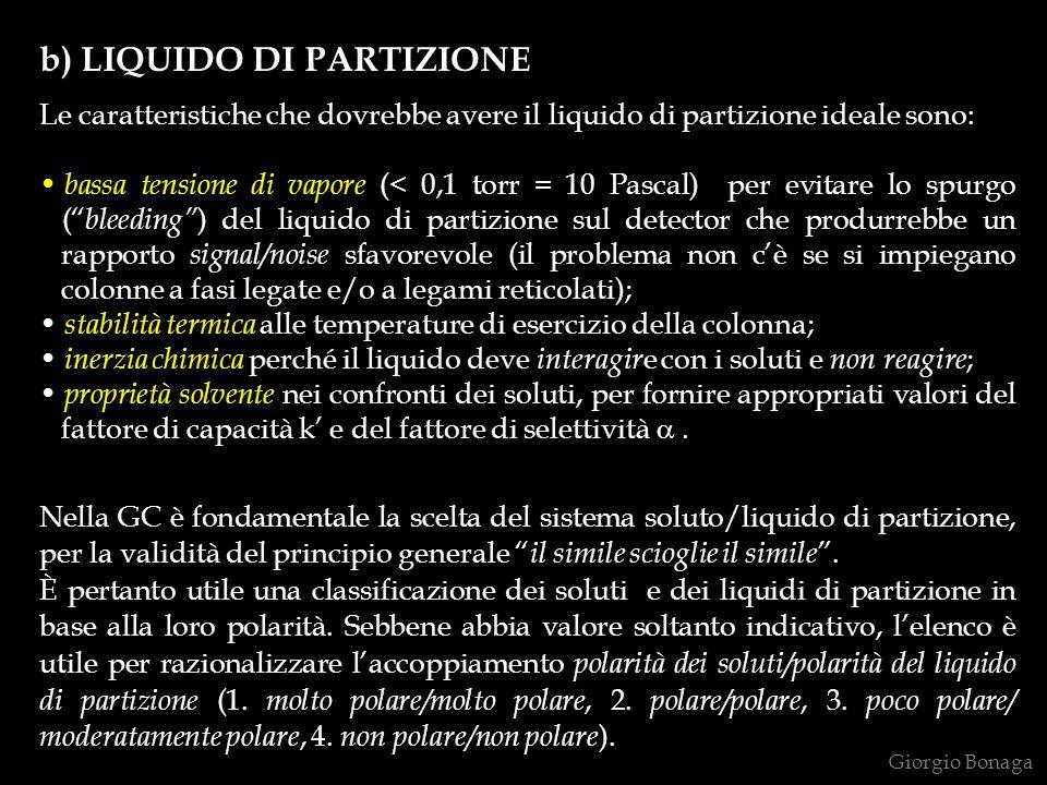 b) LIQUIDO DI PARTIZIONE