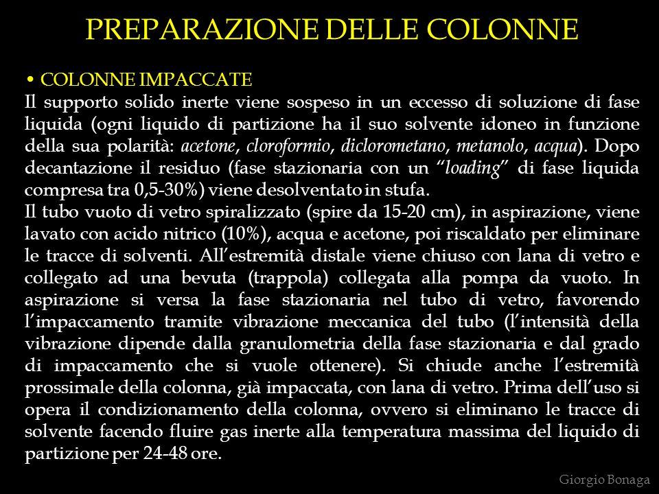 PREPARAZIONE DELLE COLONNE