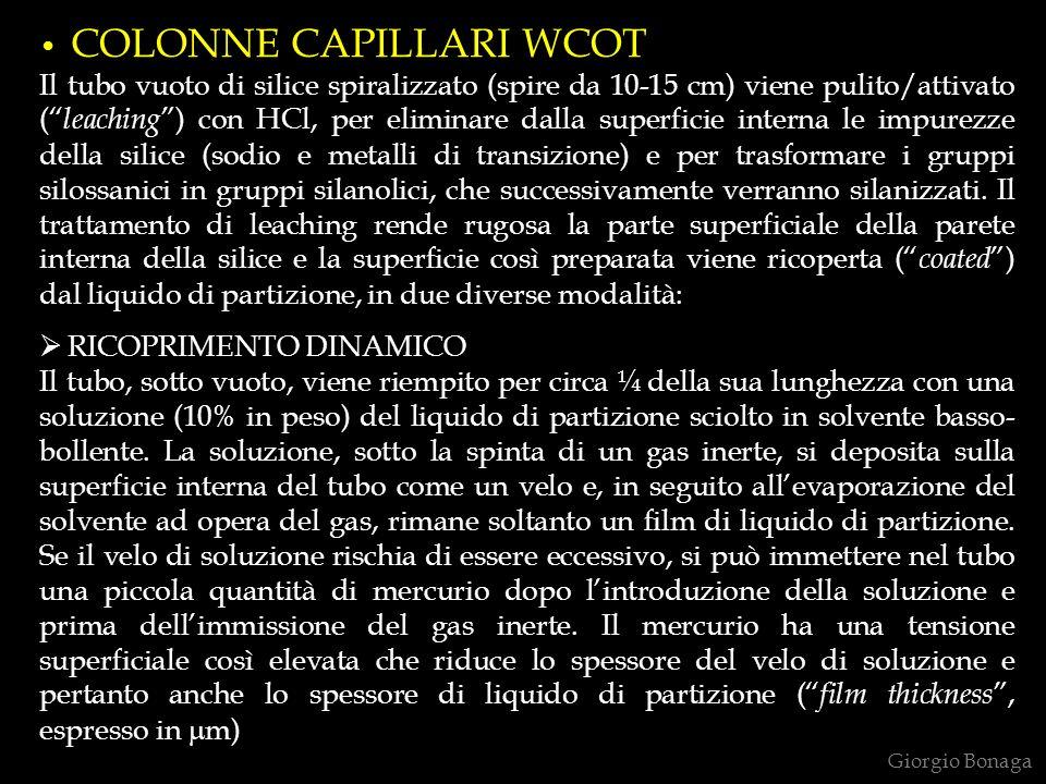 COLONNE CAPILLARI WCOT