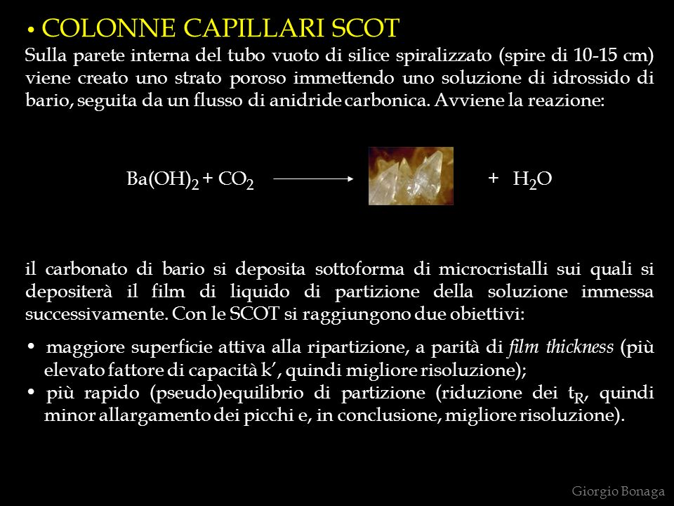 COLONNE CAPILLARI SCOT