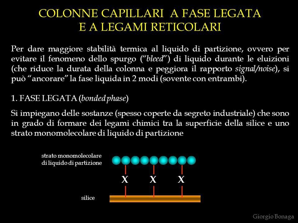 COLONNE CAPILLARI A FASE LEGATA