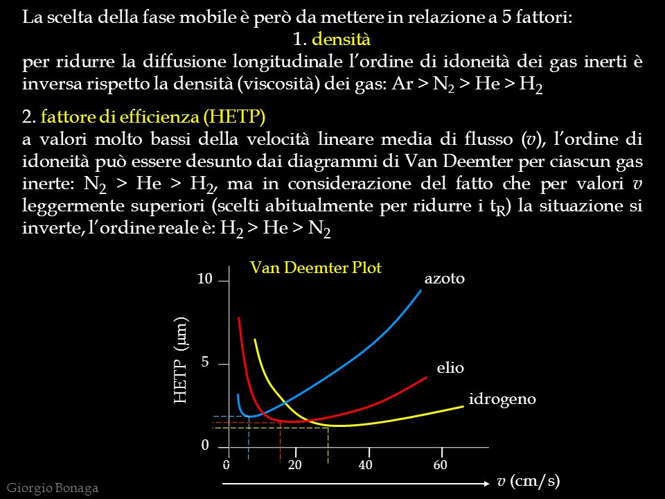 2. fattore di efficienza (HETP)