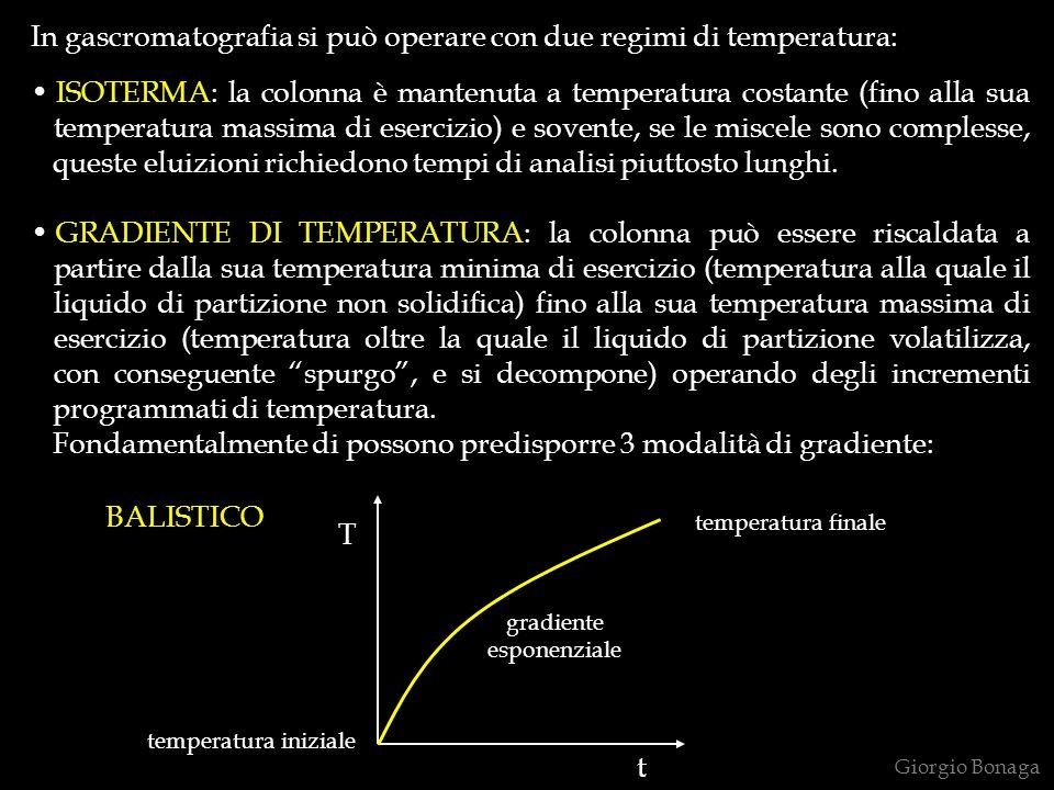 In gascromatografia si può operare con due regimi di temperatura:
