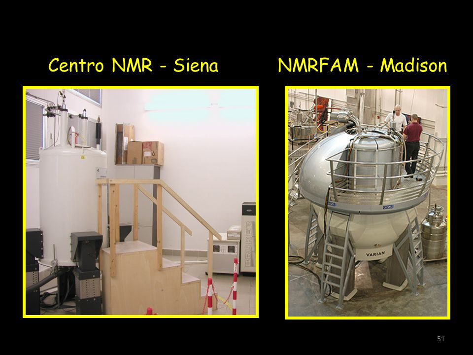 Centro NMR - Siena NMRFAM - Madison