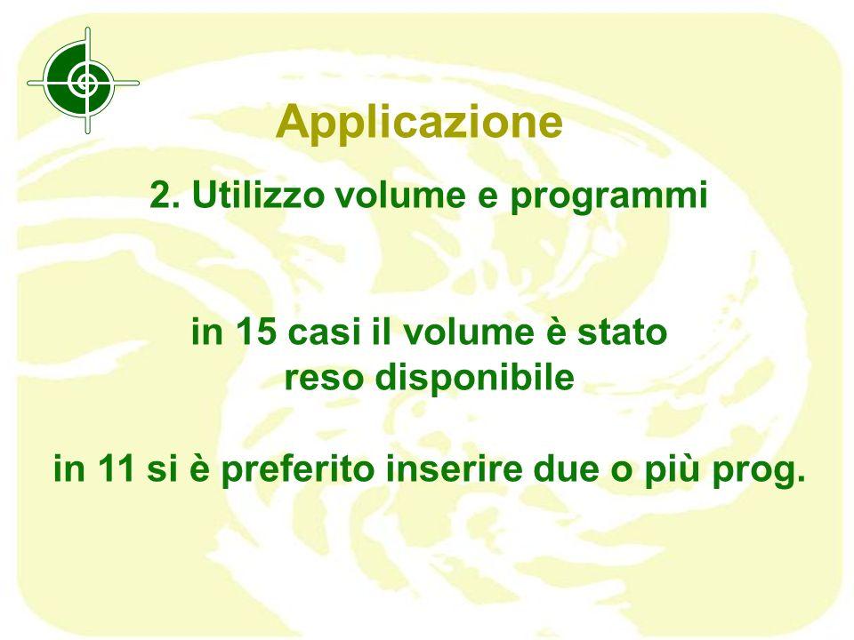 Applicazione 2. Utilizzo volume e programmi