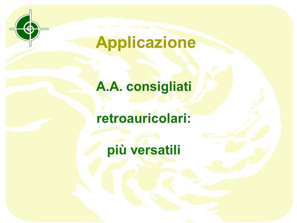 Applicazione A.A. consigliati retroauricolari: più versatili