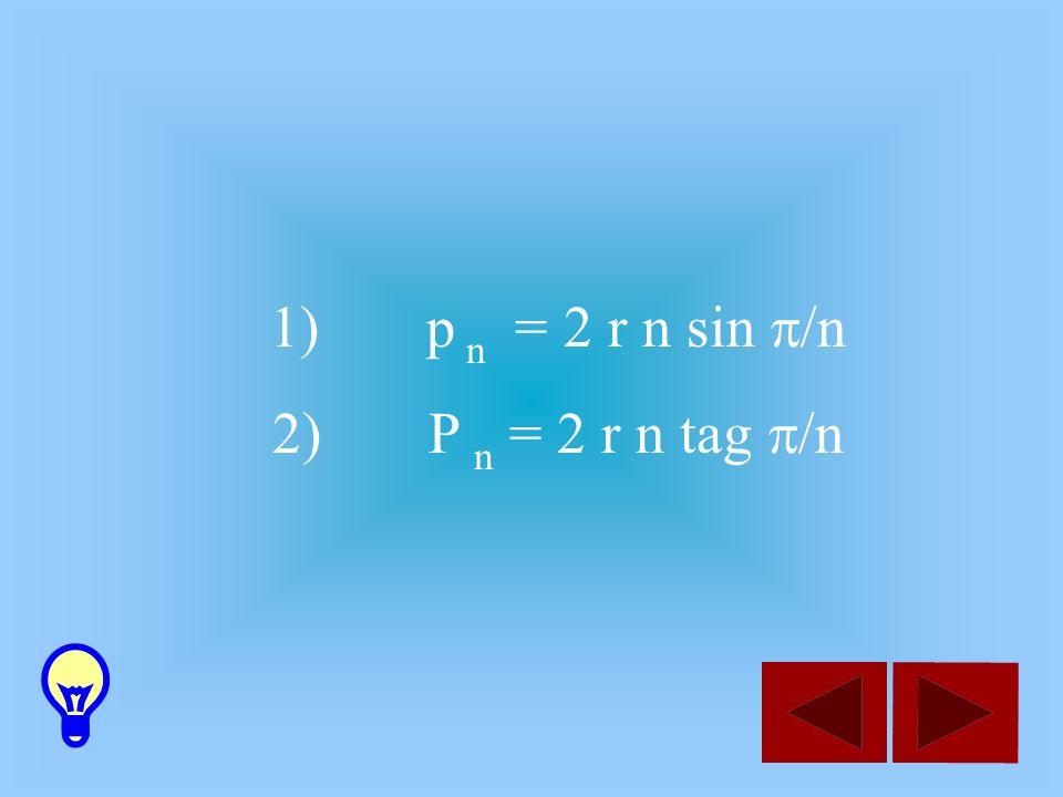 29/03/2017 p n = 2 r n sin p/n P n = 2 r n tag p/n