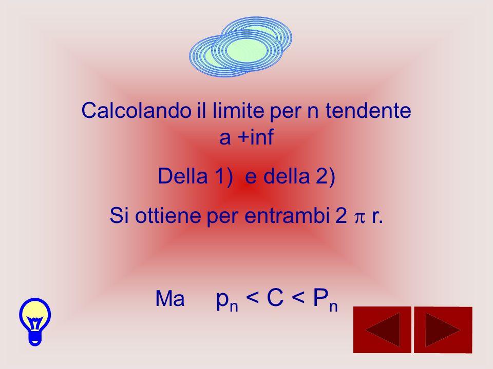 Calcolando il limite per n tendente a +inf Della 1) e della 2)