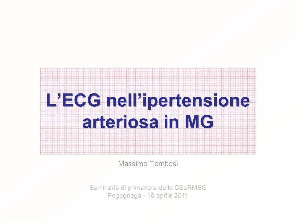 L'ECG nell'ipertensione arteriosa in MG