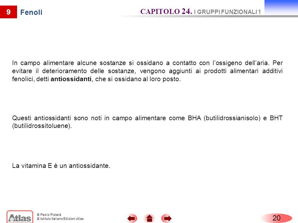 CAPITOLO 24. I GRUPPI FUNZIONALI 1 Fenoli