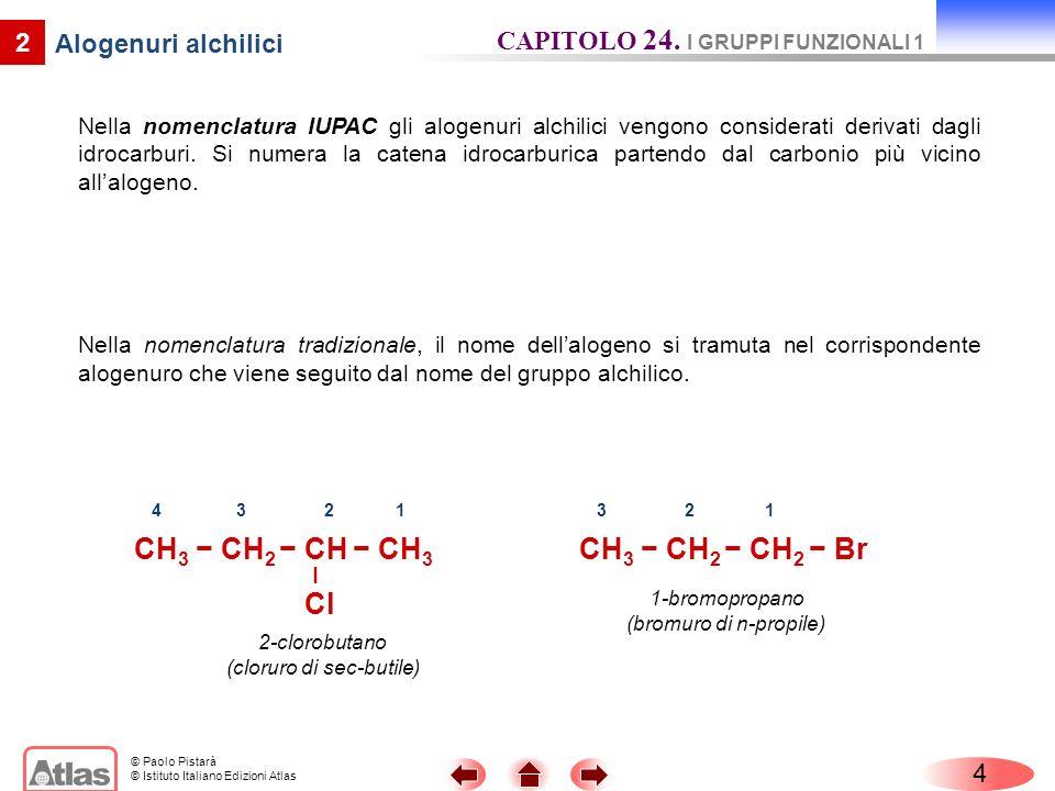 CH3 − CH2 − CH − CH3 – Cl CH3 − CH2 − CH2 − Br